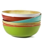 Medio bamboo serving bowl